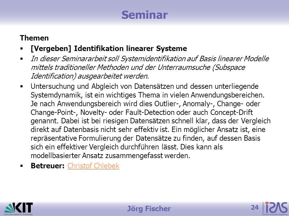 Seminar Themen [Vergeben] Identifikation linearer Systeme